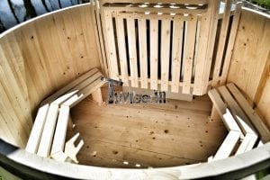 Wooden hot tub basic model made of siberian spruce larch 8