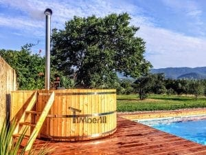 Wooden hot tub cheap basic design 1
