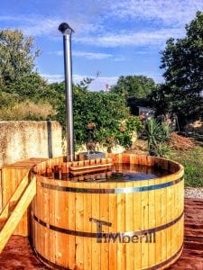 Wooden hot tub cheap basic design 3