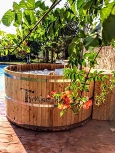 Wooden hot tub cheap basic design 4