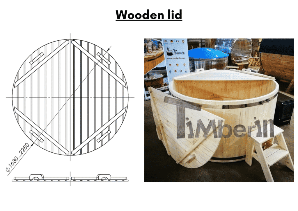 Wooden hot tub cheap model Wooden lid 10 2