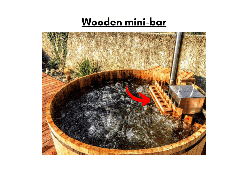 Wooden hot tub cheap model Wooden mini bar 9 1