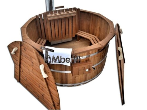 Barrel wooden hot tub thermo wood