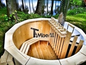 Wooden hot tub for garden 10