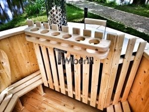 Wooden hot tub for garden 11