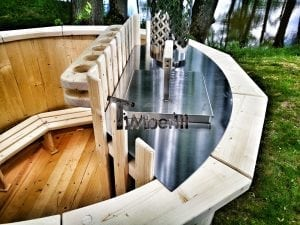 Wooden hot tub for garden 13