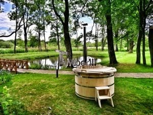 Wooden hot tub for garden 20