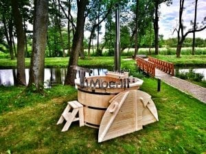 Wooden hot tub for garden 3