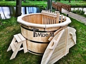 Wooden hot tub for garden 7