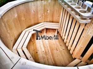 Wooden hot tub for garden 8