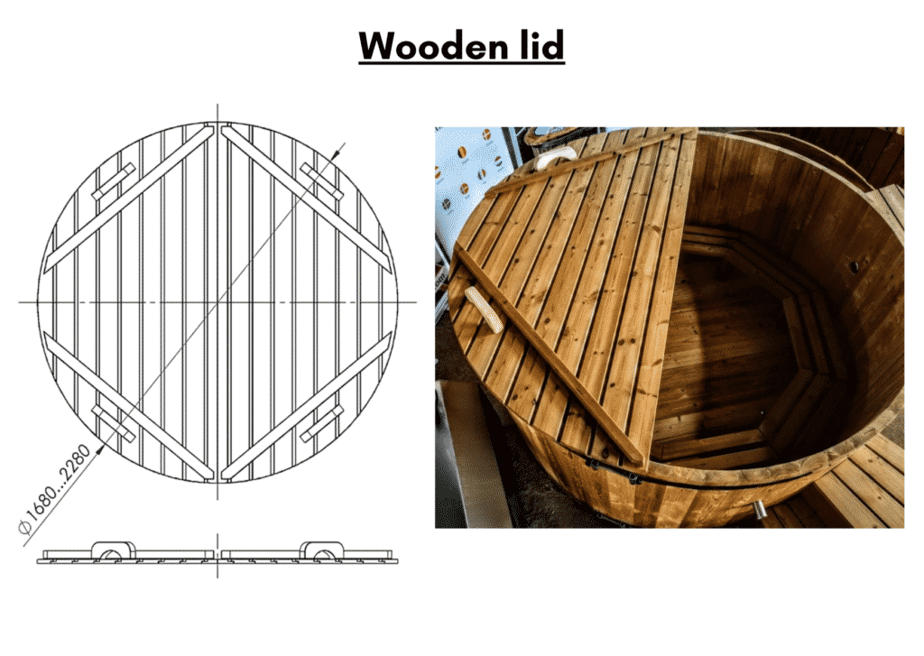 Wooden hot tub kits thermowood lid