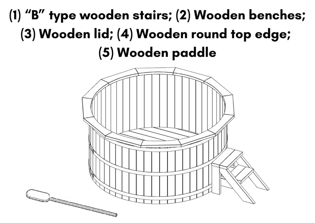Wooden hot tub spruce flat pack deluxe included