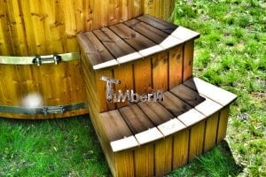 Wooden hot tub thermowood deluxe spa model 10