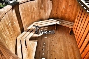 Wooden hot tub thermowood deluxe spa model 11