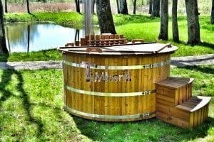 Wooden hot tub thermowood deluxe spa model 24