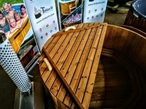 wooden hot tub thermo wood basic air bubble and LED 10