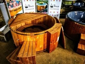 wooden hot tub thermo wood basic air bubble and LED 2