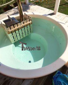 Classic hot tub fiberglass with internal wood burner
