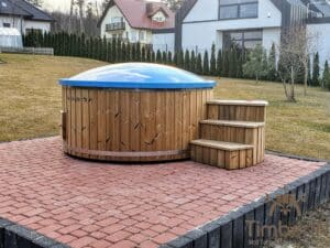 Electric wooden hot tub 2