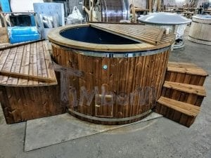Electricity Heated Fiberglass Hot Tub With Thermowood Decoration 7