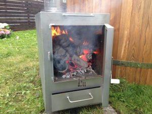 External rectangular stainless steel heater 1