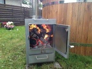 External rectangular stainless steel heater 3