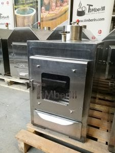 External wood fired stove for hot tubs 11
