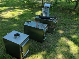 External wood heated spa heater Rectangular Model 10