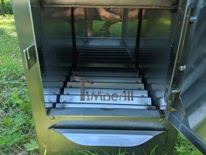 External wood heated spa heater Rectangular Model 14