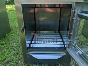 External wood heated spa heater Rectangular Model 15