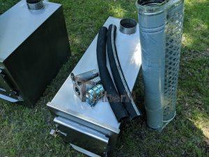 External wood heated spa heater Rectangular Model 16