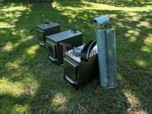 External wood heated spa heater Rectangular Model 17