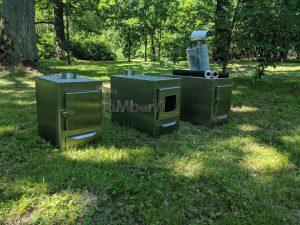 External wood heated spa heater Rectangular Model 2