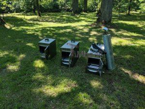 External wood heated spa heater Rectangular Model 20