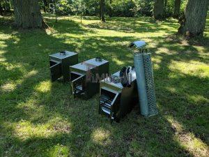 External wood heated spa heater Rectangular Model 21