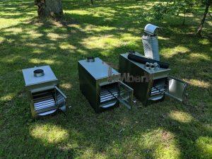 External wood heated spa heater Rectangular Model 22