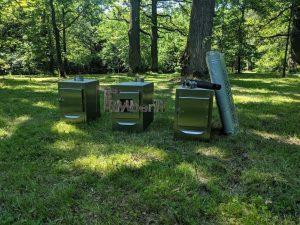 External wood heated spa heater Rectangular Model 3