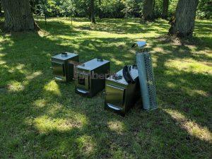 External wood heated spa heater Rectangular Model 5