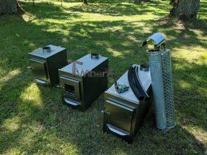 External wood heated spa heater Rectangular Model 6