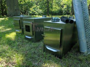 External wood heated spa heater Rectangular Model 7