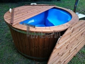 Fiberglass outdoor spa with external burner 1