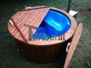 Fiberglass outdoor spa with external burner 10