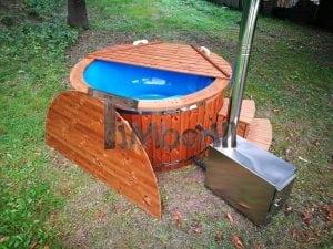 Fiberglass outdoor spa with external burner 11