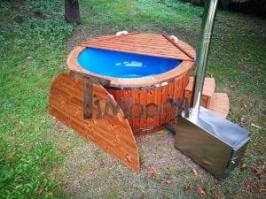 Fiberglass outdoor spa with external burner 12