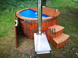 Fiberglass outdoor spa with external burner 14