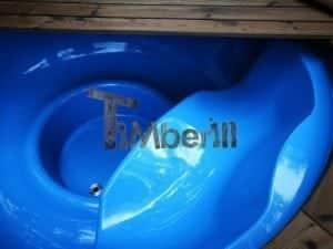 Fiberglass outdoor spa with external burner 17