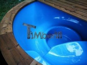 Fiberglass outdoor spa with external burner 18