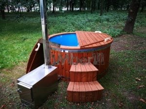 Fiberglass outdoor spa with external burner 23
