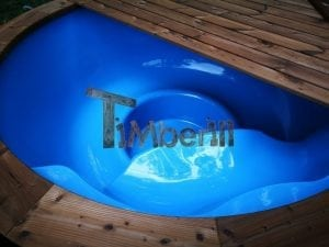 Fiberglass outdoor spa with external burner 26