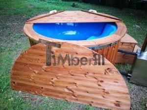 Fiberglass outdoor spa with external burner 27
